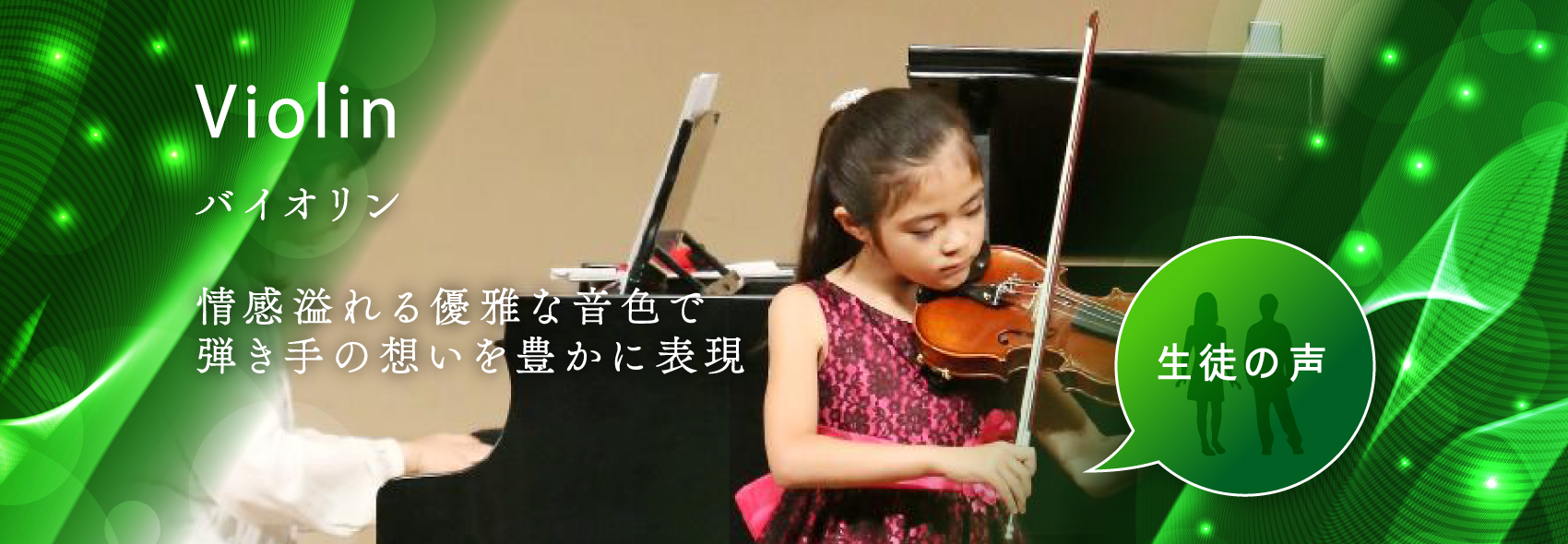 Violin 情感溢れる優雅な音色で 弾き手の想いを豊かに表現